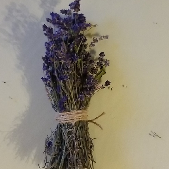 Dried lavender bundle.